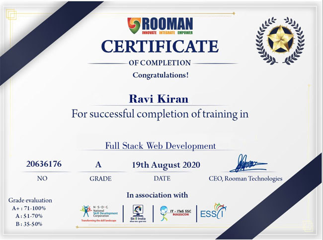 Full Stack Web Development Certification Course